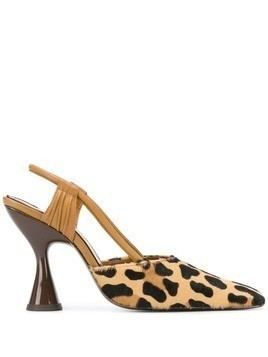 Dorateymur Stainless slingback pumps - Brown