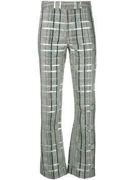 Rosie Assoulin check print trousers - Grey