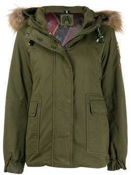 Alessandra Chamonix hooded parka coat - Green