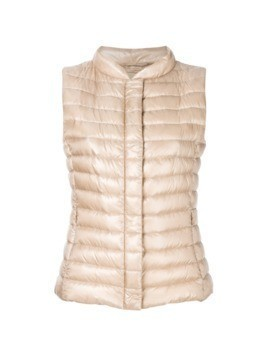 Herno cropped padded gilet - Nude&Neutrals