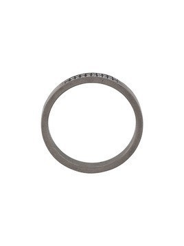 Eye M By Ileana Makri thin band ring - Grey