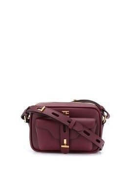 Tom Ford smooth camera bag - Red