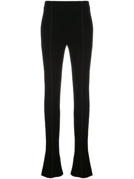 Mugler extra-long flared trousers - Black