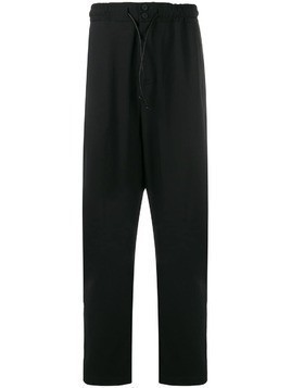 Isabel Benenato drop-crotch trousers - Black