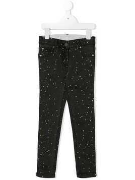 Stella Mccartney Kids polka dot printed jeans - Black