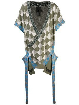 Bernhard Willhelm geometric short-sleeve cardigan - Green
