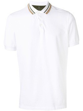 Brunello Cucinelli striped collar polo shirt - White