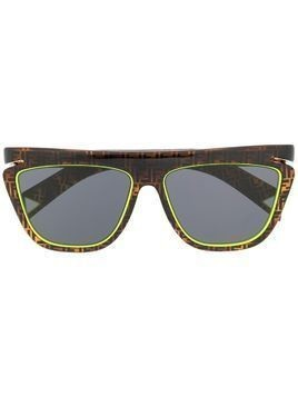 Fendi Eyewear FF logo square sunglasses - Brown