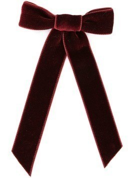 Jennifer Behr velvet hair bow - Red