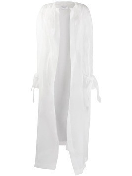 Ailanto hooded sheer coat - White
