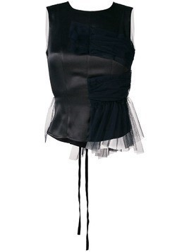 Act N°1 tulle back top - Black