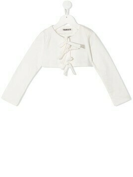 Touriste bow detail bolero - White