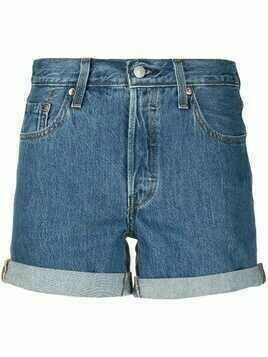 Levi's mid-rise cotton shorts - Blue