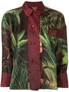 F.R.S For Restless Sleepers jungle print silk shirt - Multicolour