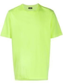 Diesel neon T-shirt with logo embroidery - Yellow