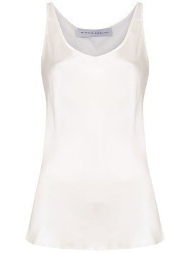 Gloria Coelho satin tank top - White