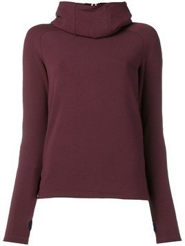 Paco Rabanne Bodyline hoodie top - Red