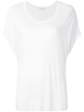 Fine Edge short-sleeve flared top - White