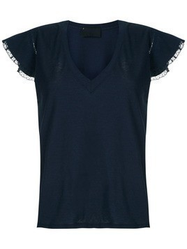 Andrea Bogosian lace trimming Pleasure T-shirt - Blue
