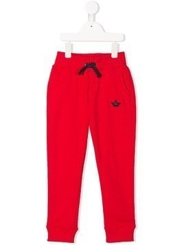 Macchia J star embroidery track pants - Red