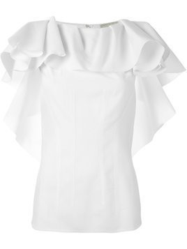 Lanvin ruffle top - White