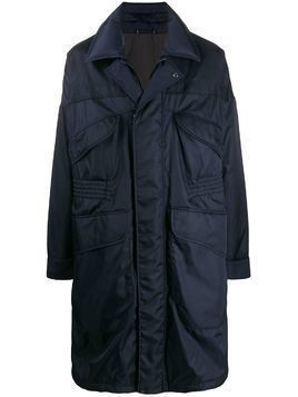 Ermenegildo Zegna mid-length panelled raincoat - Blue
