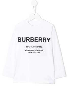 Burberry Kids logo T-shirt - White