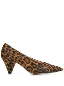 Fabio Rusconi Nobel leopard pumps - Brown