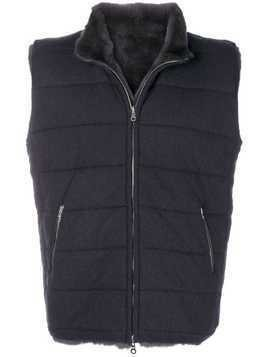 N.Peal fur lined gilet - Grey