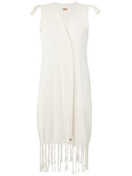 Caravana Voltan sleeveless cardigan - White