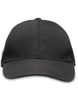 Prada logo plaque baseball cap - Black