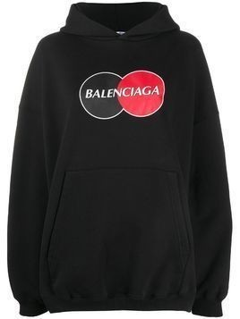 Balenciaga Uniform Large Fit hoodie - Black