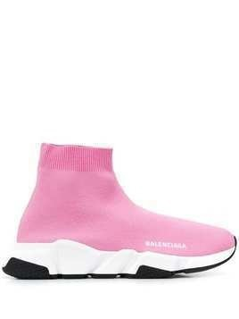 Balenciaga Speed knitted sock hi-top sneakers - Pink