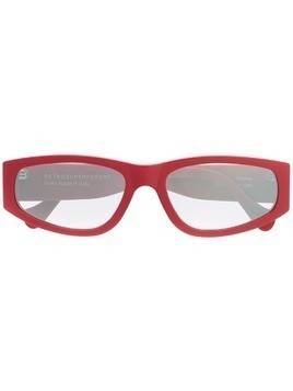 Retrosuperfuture rectangular frame sunglasses - Red