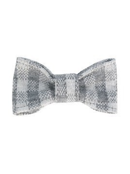 Il Gufo check bow-tie - Grey