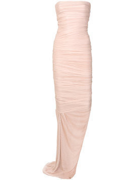 Tom Ford fitted bustier long zipped dress - Nude & Neutrals