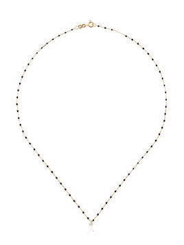 Gigi Clozeau black YG bead diamond and yellow gold necklace