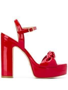 Stuart Weitzman 130mm Mirri knot detail sandals - Red