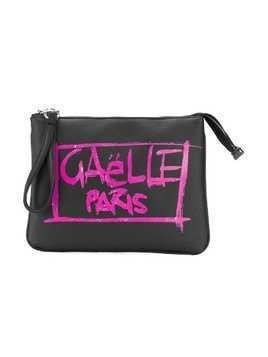 Gaelle Paris Kids brand grafitti print clutch - Black