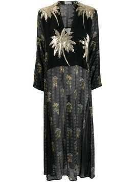 Ailanto palm tree maxi dress - Black