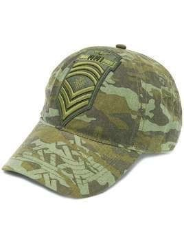 Mr & Mrs Italy camouflage pattern baseball cap - Green