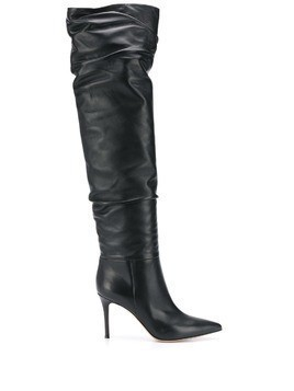 Gianvito Rossi ruched leather boots - Black