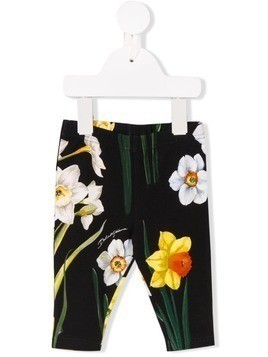 Dolce & Gabbana Kids flower print leggings - Black