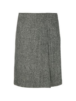 Moschino Vintage slit front A-line skirt - Grey