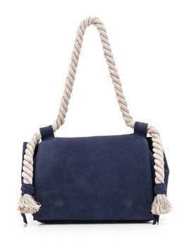 Elena Ghisellini rope handle tote bag - Blue