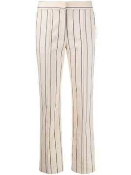Victoria Victoria Beckham striped slim-fit trousers - NEUTRALS