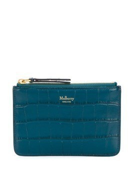 Mulberry zip coin shiny croc pouch - Blue