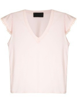 Andrea Bogosian lace trimming Pleasure T-shirt - Pink