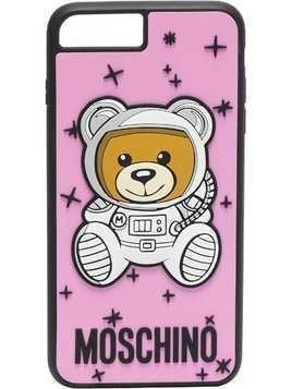 Moschino pink teddy printed iPhone 8 Plus case - Pink & Purple