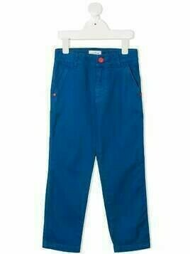The Marc Jacobs Kids mid-rise straight-leg trousers - Blue